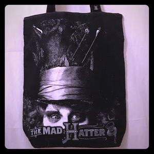 Disney Mad Hatter Tote Bag Alice in Wonderland